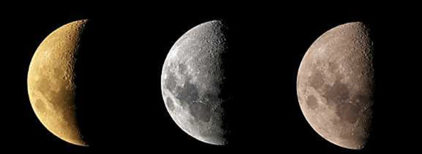 New moon to first quarter